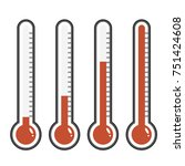 thermometer icon. thermometer... | Shutterstock .eps vector #751424608