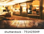 abstract blurry restaurant... | Shutterstock . vector #751425049