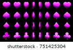 cartoon collection of 3d violet ...