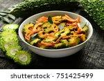 anti diabetic food  bitter... | Shutterstock . vector #751425499