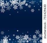 winter card border of snow... | Shutterstock . vector #751429630