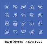 simple set of social media... | Shutterstock .eps vector #751435288