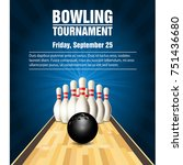skittles and bowling ball on... | Shutterstock .eps vector #751436680