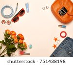 fashionable women's cosmetics... | Shutterstock . vector #751438198