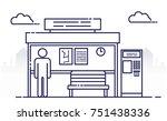 modern bus stop.  passenger... | Shutterstock .eps vector #751438336