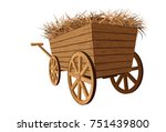 a wagon full of straw | Shutterstock .eps vector #751439800