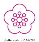 flower vector icon | Shutterstock .eps vector #751442200