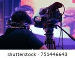 professional video technician... | Shutterstock . vector #751446643