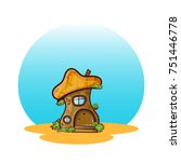 vector icon of cartoon house... | Shutterstock .eps vector #751446778
