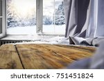 wooden table with space for... | Shutterstock . vector #751451824
