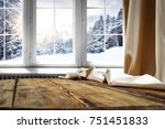 wooden table with space for... | Shutterstock . vector #751451833
