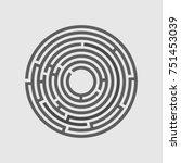 grey round maze | Shutterstock .eps vector #751453039