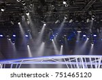 spotlights on the ceiling of... | Shutterstock . vector #751465120