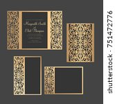 laser cut invitation set. gate... | Shutterstock .eps vector #751472776