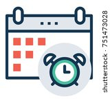 flat vector icon of reminder ... | Shutterstock .eps vector #751473028