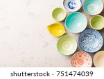 collection of empty colorful ... | Shutterstock . vector #751474039