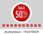 christmas price tag promotion... | Shutterstock .eps vector #751475029