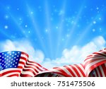 an american flag political or... | Shutterstock . vector #751475506