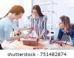 ready order. cheerful friendly... | Shutterstock . vector #751482874