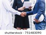 successful businessmen... | Shutterstock . vector #751483090