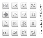 web buttons and icons for... | Shutterstock .eps vector #751484620