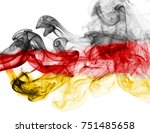 germany flag smoke | Shutterstock . vector #751485658