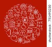 round line christmas... | Shutterstock .eps vector #751493230