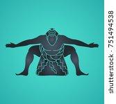sumo vector logo icon... | Shutterstock .eps vector #751494538