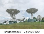 Telecommunications satellite in Singapore under the blue sky. Huge Telecommunication Plates