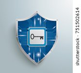 digital protection shield with... | Shutterstock .eps vector #751502614