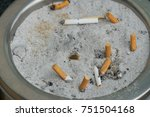 cigarette butts smoking with... | Shutterstock . vector #751504168