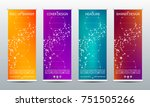 abstract roll up banner for... | Shutterstock .eps vector #751505266