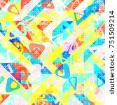 abstract 1980 memphis geometric ...   Shutterstock .eps vector #751509214