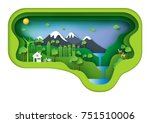 green environment creative idea ... | Shutterstock .eps vector #751510006