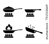 frying pan or skillet and wok... | Shutterstock .eps vector #751510669