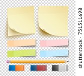 post note sticker vector.... | Shutterstock .eps vector #751511698