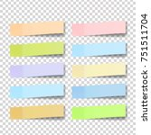 post note sticker vector. paper ... | Shutterstock .eps vector #751511704