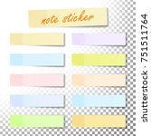 post note sticker vector. color ... | Shutterstock .eps vector #751511764