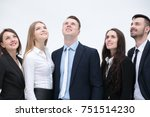 employees are confidently... | Shutterstock . vector #751514230