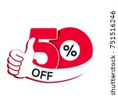 Stock vector vector special sale offer red tag with best choice discount offer price label with hand gesture 751516246