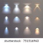 set of light effects of blue... | Shutterstock .eps vector #751516963