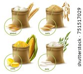 Set Of Agricultural Cereals...