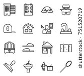 thin line icon set   houses ... | Shutterstock .eps vector #751520719