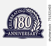 180 years anniversary logo...   Shutterstock .eps vector #751521403