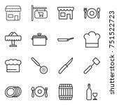 thin line icon set   shop ...   Shutterstock .eps vector #751522723