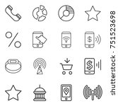 thin line icon set   phone ...