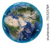 planet earth on white...   Shutterstock . vector #751525789