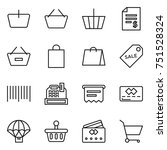 thin line icon set   basket ... | Shutterstock .eps vector #751528324