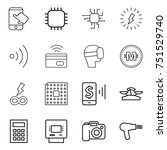 thin line icon set   touch ... | Shutterstock .eps vector #751529740