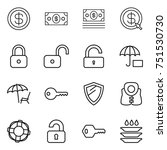 thin line icon set   dollar ... | Shutterstock .eps vector #751530730